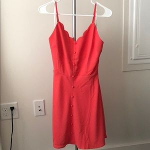 Dresses & Skirts - Coral scallop top dress